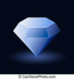 Shiny Blue Diamond