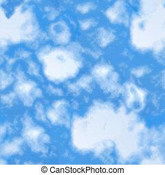 Shiny blue sky seamless pattern.