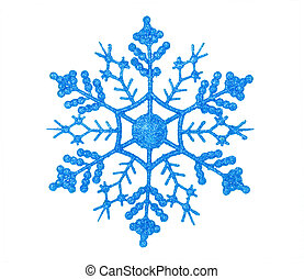 shiny blue snowflake