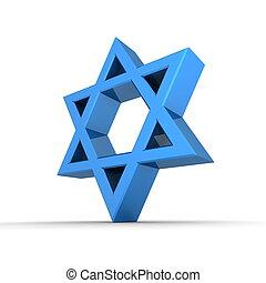 Shiny Blue Star of David