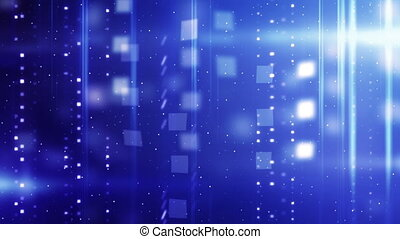 shiny blue technology animation. Computer generated seamless loop abstract motion background
