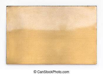 Shiny brass metal sign texture