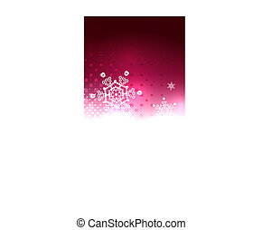 Shiny bright abstract snowflake background