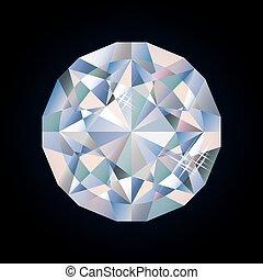 Shiny bright diamond, vector
