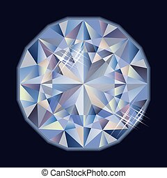 Shiny brilliant diamond, vector illustration