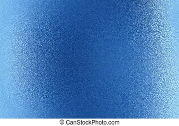 Shiny brushed blue metal wall, abstract texture background