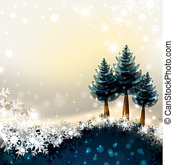 Christmas background - Shiny Christmas background with three...