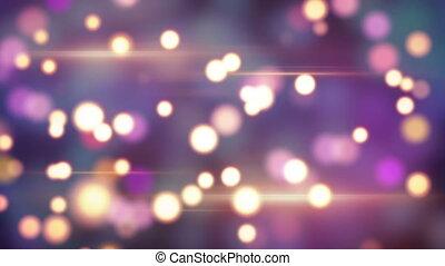 shiny circle bokeh lights loop background