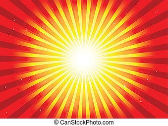 Shiny circular blast