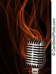 Shiny classic microphone