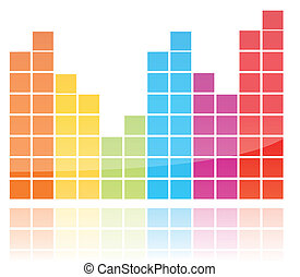Shiny Colorful Equalizer - A musical equalizer graphic with...