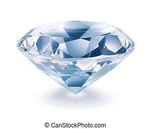 Shiny diamond on white background isolated