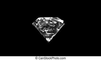Shiny diamond with alpha channel - Twisted diamond with...