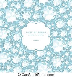 Shiny diamonds frame seamless pattern background - Vector...