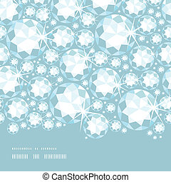 Shiny diamonds horizontal border seamless pattern background