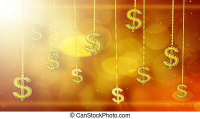 shiny dollar signs dangling loop