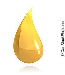 Shiny drop of honey or oil