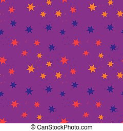 Shiny falling stars seamless pattern
