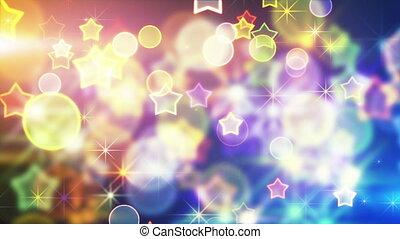 shiny festive background with bokeh