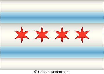 Shiny flag of the Chicago