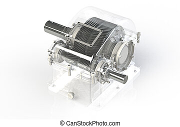 Shiny Gears on white background