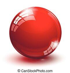shiny glass ball on a white background