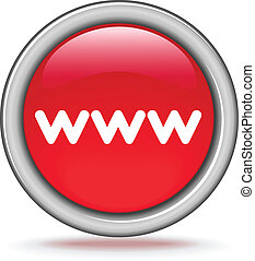 "round red button ""WWW"""
