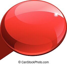 Shiny gloss red 3d banner