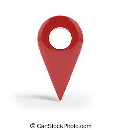 Shiny gloss red Map pointer icon. - Shiny gloss red Map...