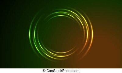 Shiny glowing neon circle swirl video animation