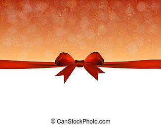 Shiny golden and red background with red bow