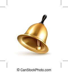 Shiny Golden bell illustration