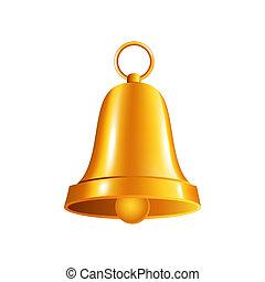 shiny golden  bell