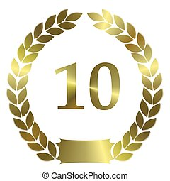 shiny golden laurel wreath 10
