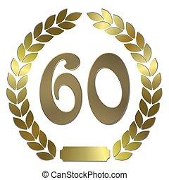 shiny golden laurel wreath 60