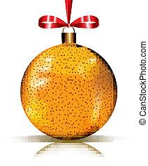 Shiny golden ornament