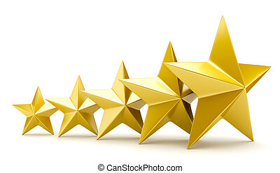 Shiny golden stars