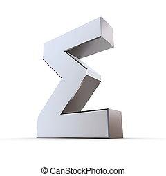 Shiny Greek Letter Sigma