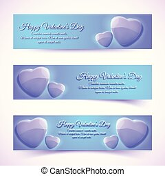 Shiny Greeting Romantic Horizontal Banners