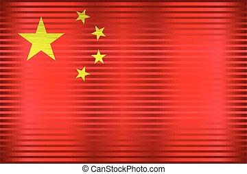 Shiny Grunge flag of the China