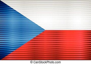 Shiny Grunge flag of the Czech Republic