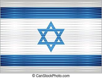 Shiny Grunge flag of the Israel