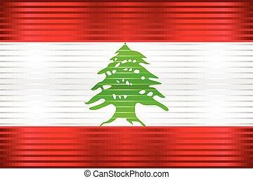 Shiny Grunge flag of the Lebanon