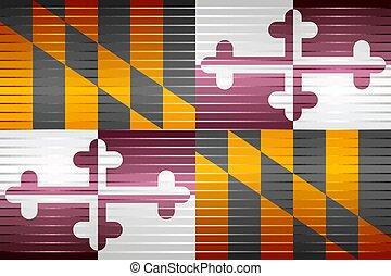 Shiny Grunge flag of the Maryland