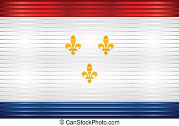 Shiny Grunge flag of the New Orleans