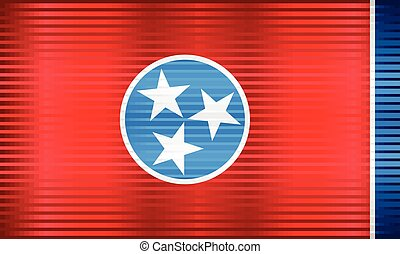 Shiny Grunge flag of the Tennessee