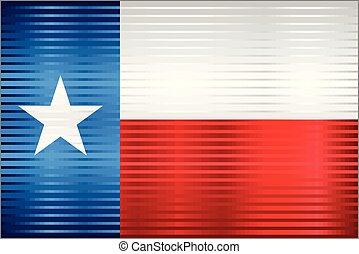 Shiny Grunge flag of the Texas