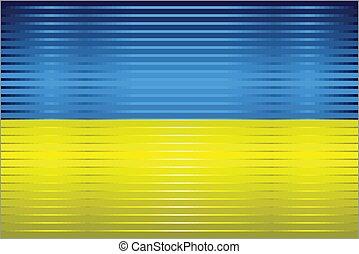 Shiny Grunge flag of the Ukraine