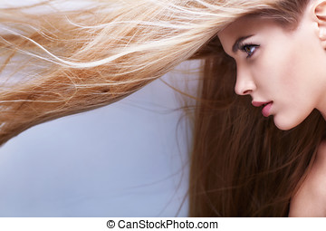 Shiny hair flying
