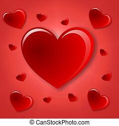 shiny heart background